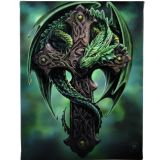 Woodland Guardian - canvas wall plaque by Anne Stokes